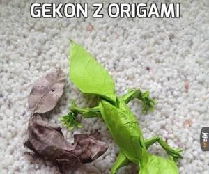 Gekon z origami