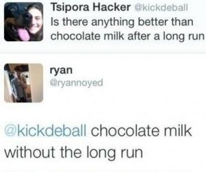 Czekoladowe mleko po bieganiu - jest coś lepszego?