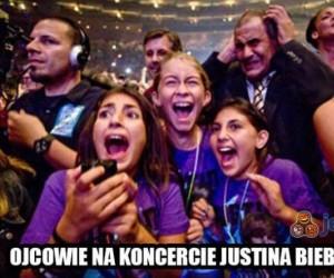 Ojcowie na koncercie Justina Biebera