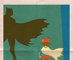 W stroju Batmana