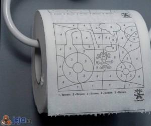 Toaletowa kolorowanka