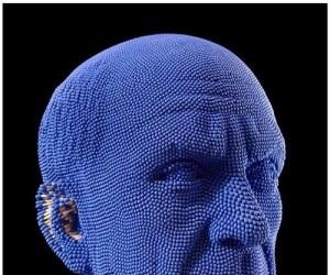 Głowa z zapałek