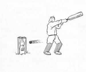 Samobójstwa zajączka: Zajączek i krykiet