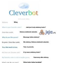 Człowiek vs Cleverbot- rozmowa o kolorach