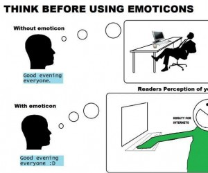 Z emotikonami vs bez emotikon
