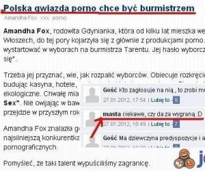 Polska gwiazda filmów dla dorosłych chce być burmistrzem