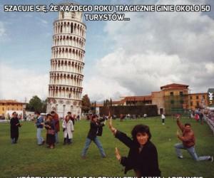 Szacuje się, że każdego roku tragicznie ginie około 50 turystów...