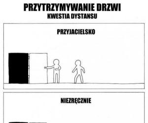 Przytrzymywanie drzwi