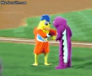 Barney schudł i nauczył się kilku ruchów