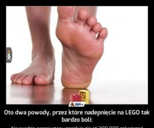 Oto dwa powody, przez które nadepnięcie na LEGO tak bardzo boli:
