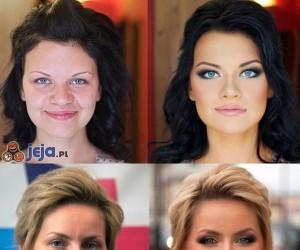 Makijaż: przed i po