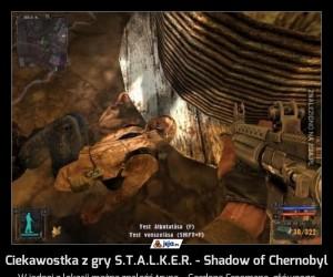 Ciekawostka z gry S.T.A.L.K.E.R. - Shadow of Chernobyl