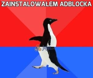 Zainstalowałem AdBlocka