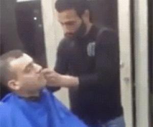 Trollowanie u fryzjera