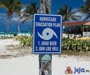 Plan ewakuacji na wypadek huraganu