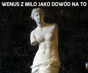 Wenus z Milo jako dowód na to