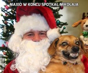 Maxio w końcu spotkał Mikołaja