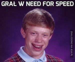 Grał w need for speed