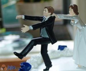 Tort weselny - ucieczka
