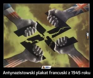 Antynazistowski plakat francuski z 1945 roku