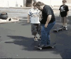 Nauka jazdy na deskorolce