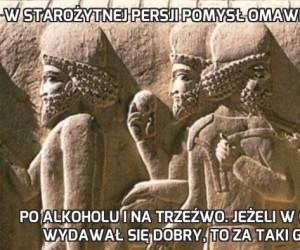 W starożytnej Persji pomysł omawiano dwukrotnie