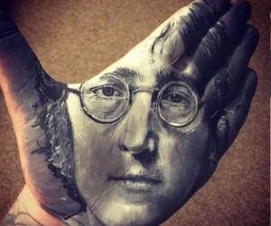 Wspaniałe portrety wykonane na... dłoni