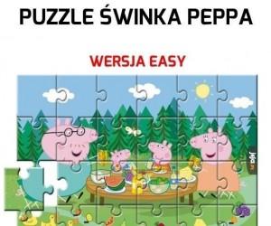 Puzzle Świnka Peppa