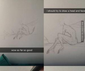 Problemy z rysowaniem twarzy