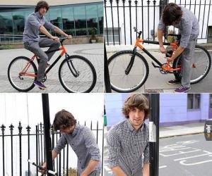 Rower z wbudowanym zabezpieczeniem