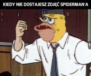 Kiedy nie dostajesz zdjęć Spiderman'a