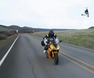 Trollowanie motocyklisty