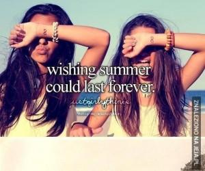 Żeby to lato nigdy się nie skończyło...