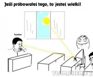 Promienie słoneczne + zegarek