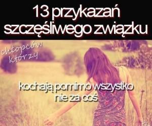13 przykazań szczęśliwego związku