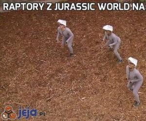 Raptory z Jurassic World na planie filmowym