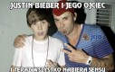 Justin Bieber i jego ojciec