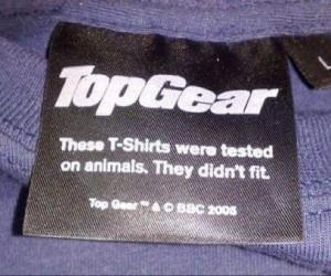 Koszulka testowana na zwierzętach