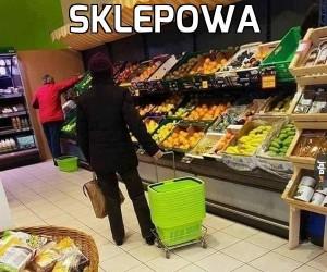 Halyna wyszła na zakupy