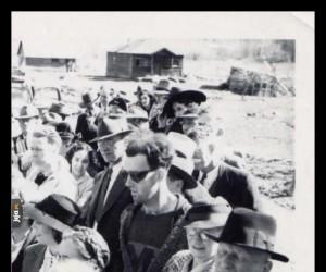 Zdjęcie z otwarcia mostu w Kanadzie w 1941 roku