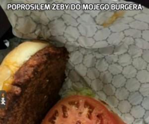 Poprosiłem żeby do mojego burgera