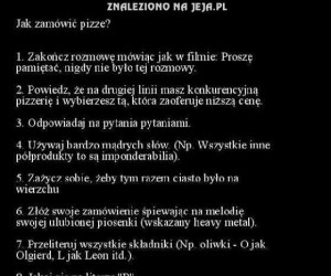 Jak zamówić pizzę
