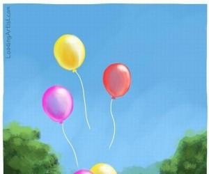 Uwolnione balony