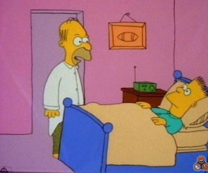 Jak na początku wyglądali Simpsonowie