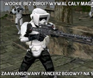 Wookie bez zbroi? Wywal cały magazynek