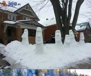 Rzeźby ze śniegu