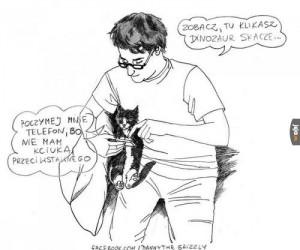 Życie z kotem jest fajne