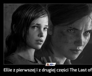 Ellie z pierwszej i z drugiej części The Last of Us
