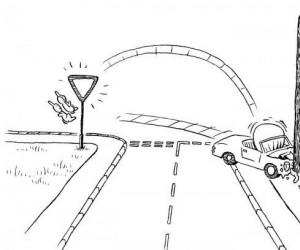 Zajączki kochają znaki drogowe