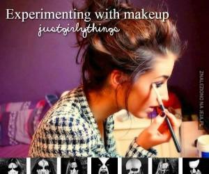 Eksperymenty z makijażem